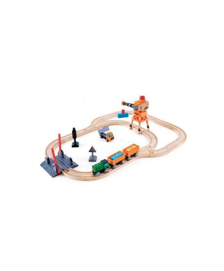 Circuito de tren accionado por manivela