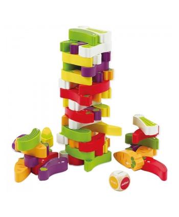Torre bloques madera verduras