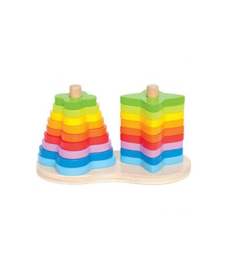Juego apilable arco iris