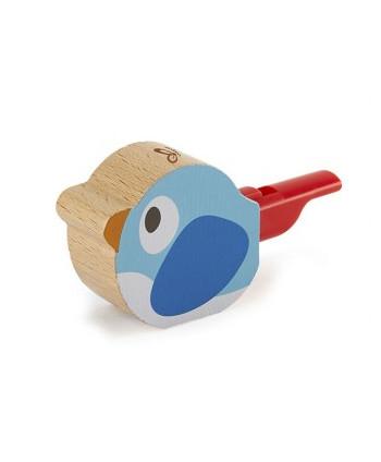 Silbato para pájaros azul